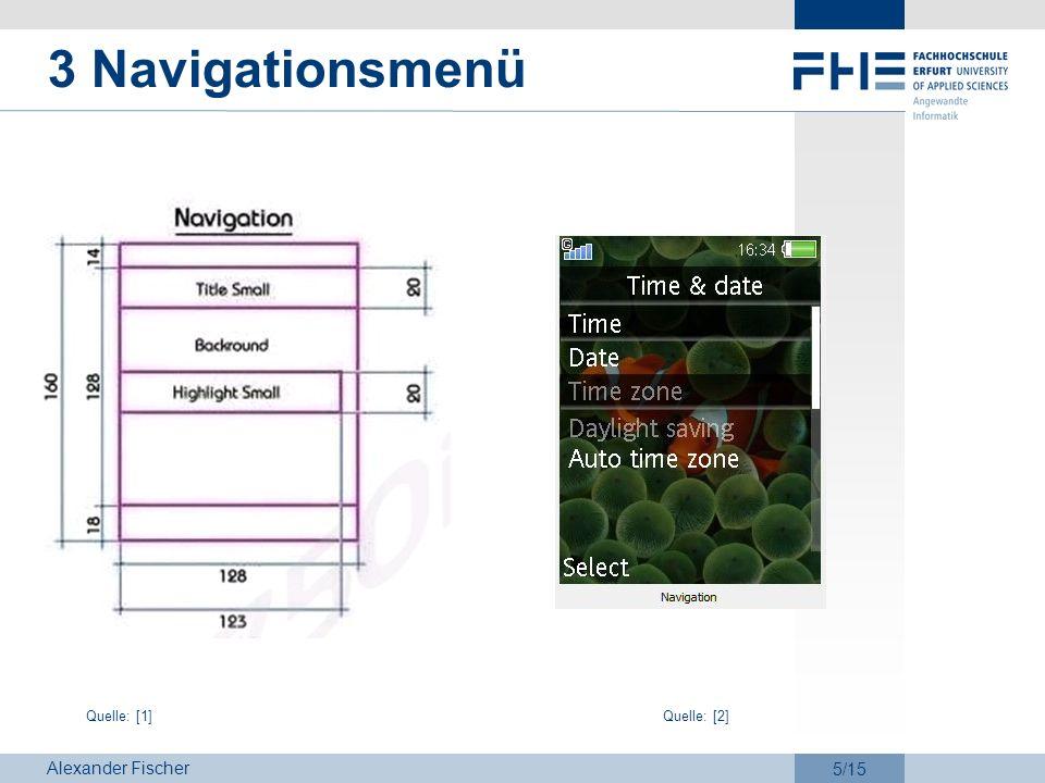 3 Navigationsmenü Quelle: [1] Quelle: [2]